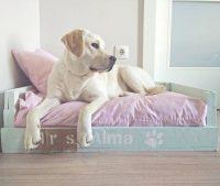 cama mascota azul