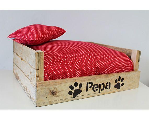 Topitos rojos camas para perros - Camas para perros de madera ...